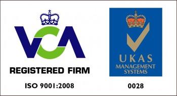 VCA REGISTERED FIRM -  ISO 9001-2008 - UKAS